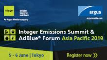 Integer Emissions Summit & AdBlue® Forum Asia Pacific 2019