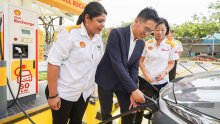 Shell launches Singapore's first EV charger at service stations