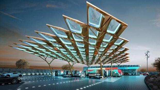 El Grupo ENOC presenta la estación de servicio inspirada en 'Ghaf tree' para la Expo 2020 Dubai