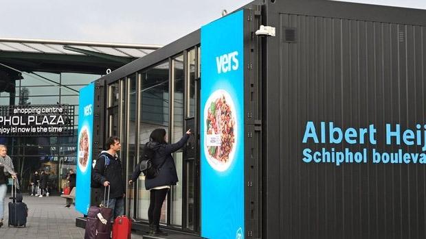 Países Bajos: Albert Heijn pilota su 'NanoStore' en el aeropuerto de Schipol