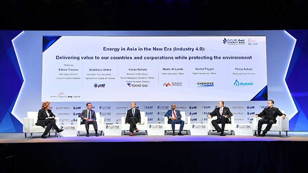 A panel discussion in Future Energy Asia 2018