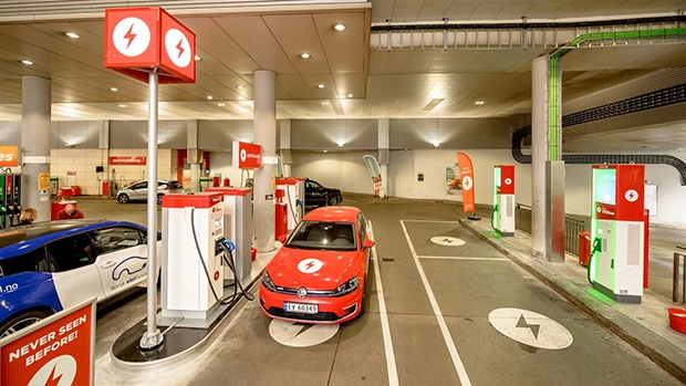 EV chargers at Circle K site