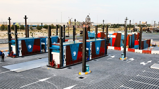 Middle East's first fully-themed fuel service station