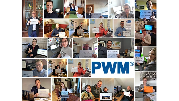 Many PWM employees have been working from home, to keep their colleagues safe.