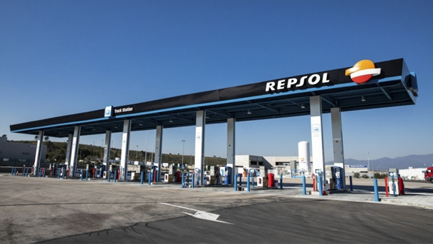 A Repsol LNG and CNG supply station in Spain.