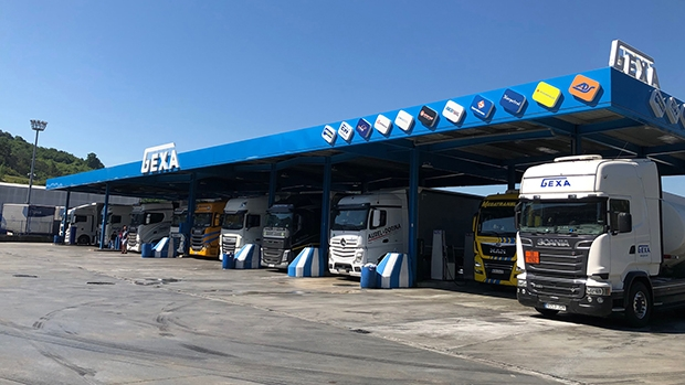 Gexa petrol station equipped with HecFleet fuel terminals