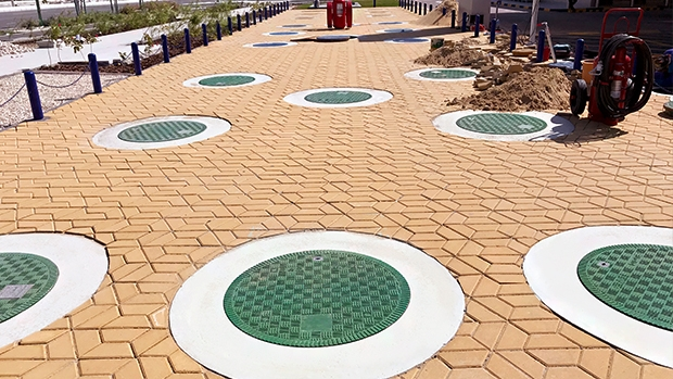 Fibrelite manhole covers are an excellent insulator against heat
