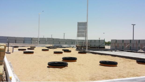 Fibrelite tank and dispenser sumps specified by Qatari oil company