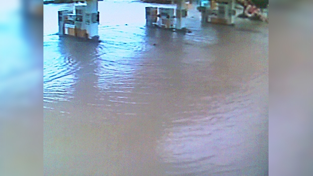 Some petrol stations in Istanbul were submerged during the July 2017 floods