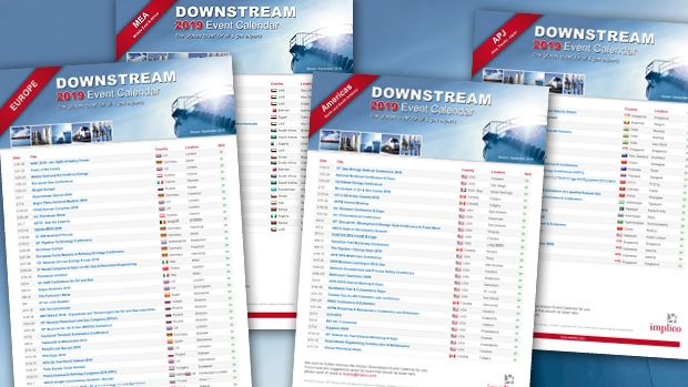 Now available: The latest edition of the Implico Downstream Event Calendar